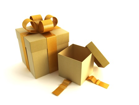 bales: 3d rendring of the gifts boxes