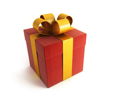 bestowal: 3d rendring of the red gifts box Stock Photo