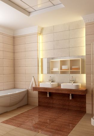 3d rendering of the modern bathroom Stock Photo - 1769694