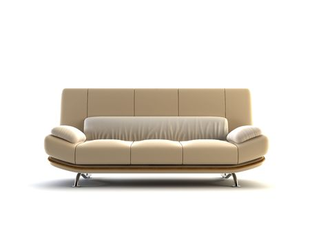 modern couch on white background Stock Photo - 1884108