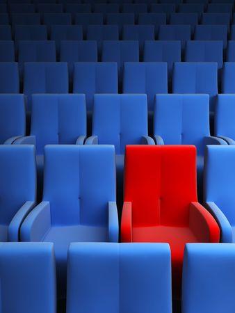 asiento: el auditorio con un asiento reservado