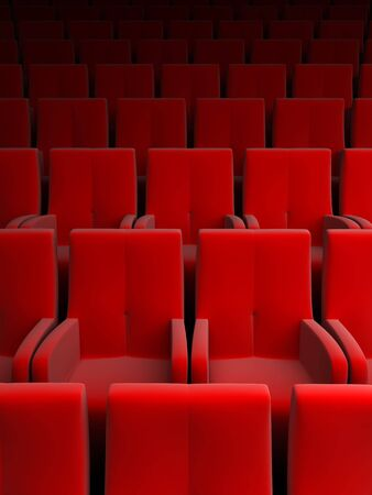 famous industries: the auditorium with red seat