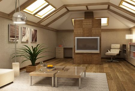 3d rendering of the modern interior