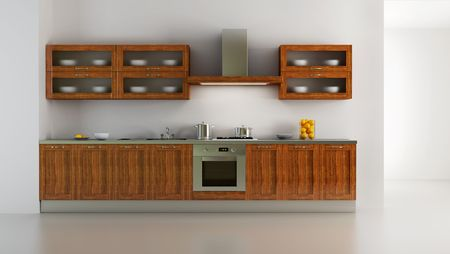 classic style kitchen interior 3d rendering Stock Photo - 2119159