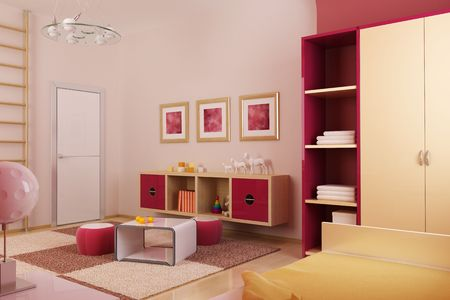 visualisation: 3d interior of the childrens room Stock Photo