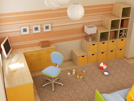 3d interior of the children's room Stock Photo - 2185627