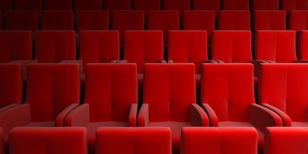the auditorium with red seats photo