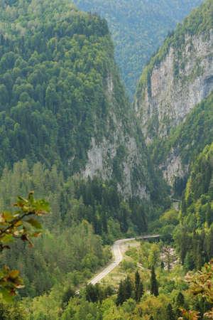 lacet: mountains landscape in Abkhazia
