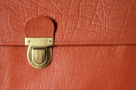 isolated old style lock on briefcase photo