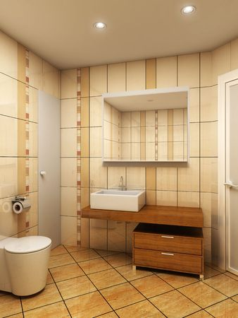 3d rendering of the modern bathroom Stock Photo - 2470540