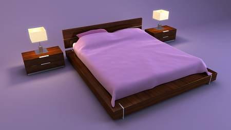 bedroom interior 3d rendering photo