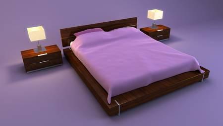 bedroom interior 3d rendering Stock Photo - 2562240