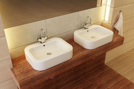 3d rendering of the modern bathroom Stock Photo - 2645970