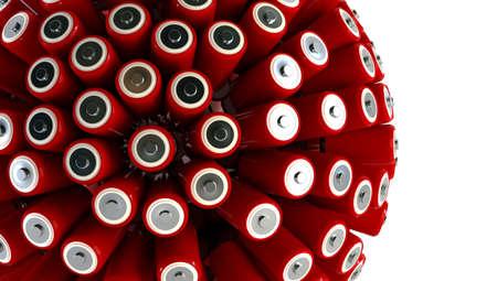 batteries 3d rendering energy concept photo