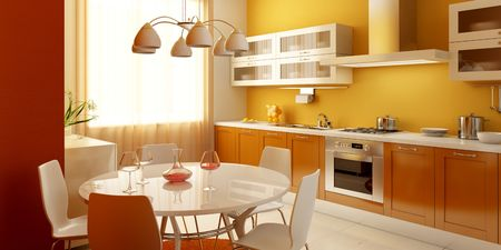 modern kitchen interior 3d rendering Stock Photo - 2645911
