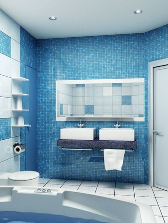 3d rendering of the modern bathroom Stock Photo - 2714644