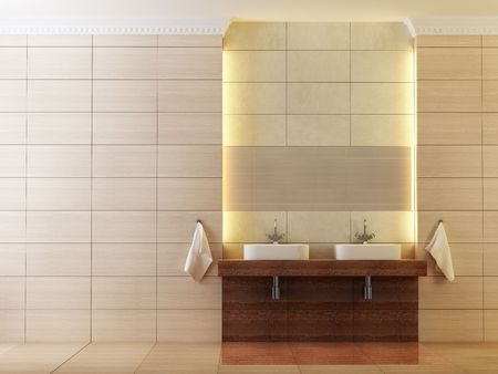 3d rendering of the modern bathroom Stock Photo - 2824554