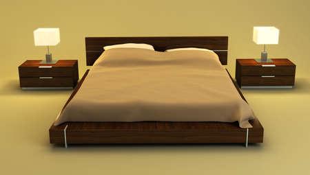 bedroom interior 3d rendering Stock Photo - 2824548