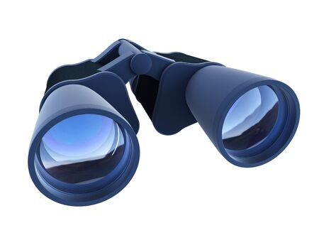 3d rendering binoculars isolated on white Stock Photo
