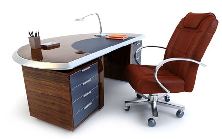 directors office isolated 3d rendering photo