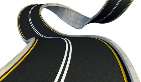 bent highway isolated on white Stock Photo - 3012333