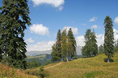 mountains landscape in Abkhazia photo