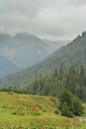 abkhazia: mountains landscape in Abkhazia