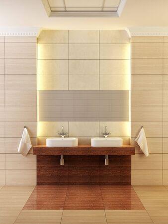 3d rendering of the modern bathroom photo