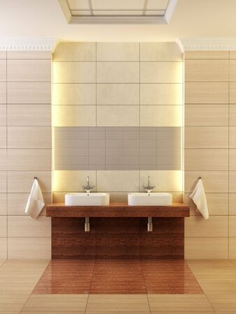 3d rendering of the modern bathroom photo