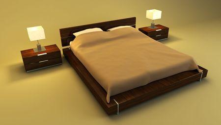 bedroom interior 3d rendering photo