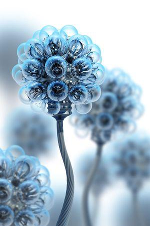 dandelion fatto da lampadine elettriche  Archivio Fotografico