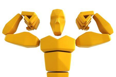 3d symbolic athlete isolated photo
