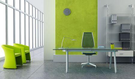 mobiliario de oficina: moderna oficina de Interior 3D