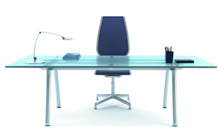 office chairs: directors office isolated 3d rendering