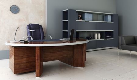modern office inter 3d rendering Stock Photo - 3358753