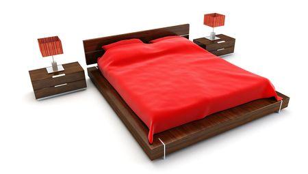 bedroom inter 3d rendering Stock Photo - 3358744
