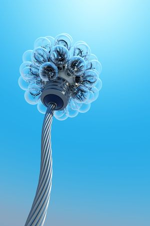 dandelion made from electric bulbs Stock Photo - 3358745