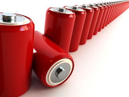 the pair batteries 3d rendering