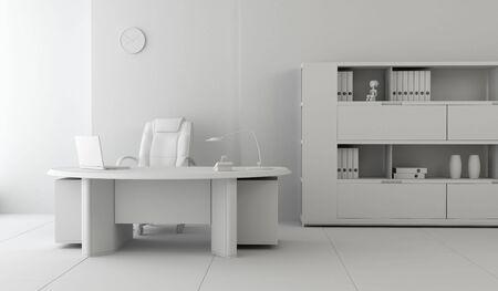 loft interior: modern office interior 3d rendering