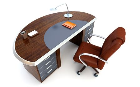 director's office isolated 3d rendering Stock Photo - 3738286