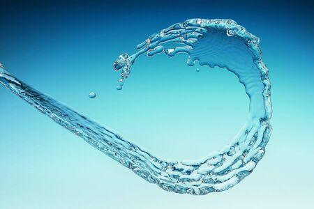 flowing water stream 3d rendering photo