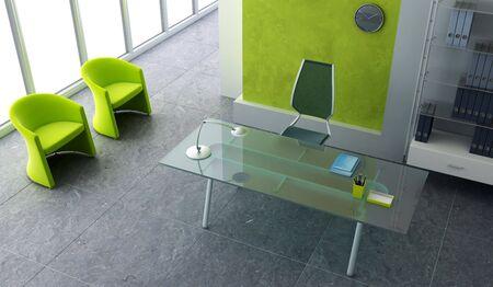modern office interior 3d rendering Stock Photo - 3739825