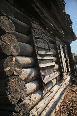 desolate: old desolate house Stock Photo
