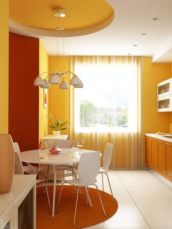 modern kitchen interior 3d rendering Stock Photo - 3924755