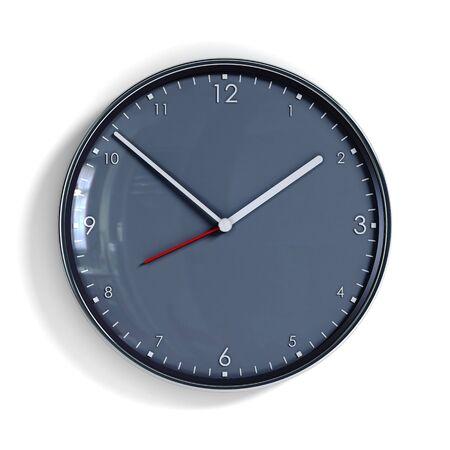 o'clock: steel clock 3d rendering Stock Photo