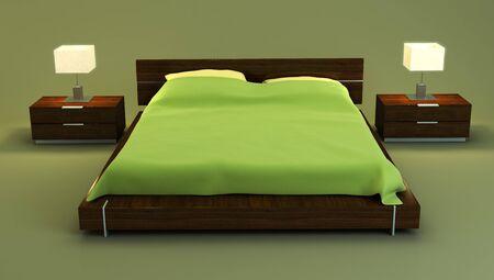 bedroom interior 3d rendering Stock Photo - 4296248