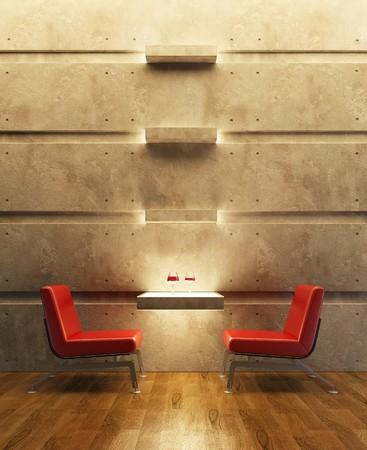3d rendering interior lounge room photo