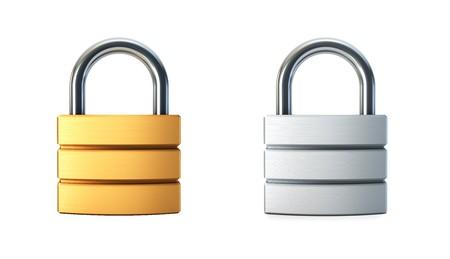 closed lock: metal closed lock isolated 3d rendering