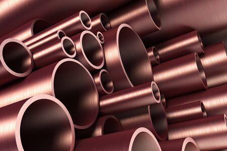 stack of steel tubing 3d rendering Stock Photo - 4296254