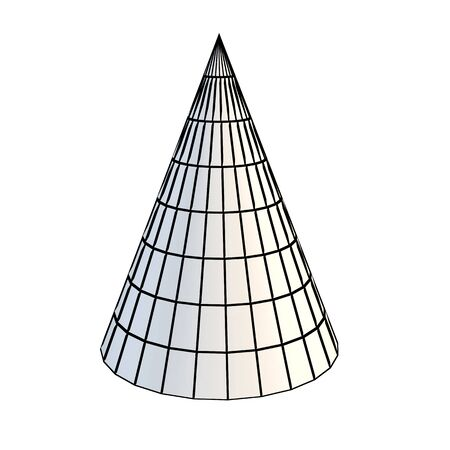 faceted: faceted white 3d cone